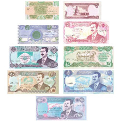 Lot 9 billets Irak 1990-1995