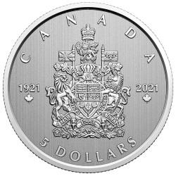 5 Dollars Argent Canada...
