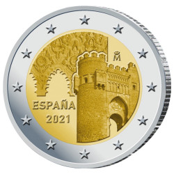 2 Euro Espagne BE 2021 -...