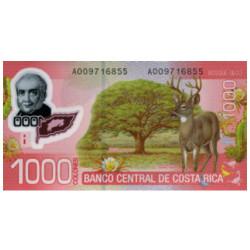 Billet 1000 Colones Costa...