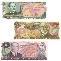 Lot 3 billets Colones Costa...