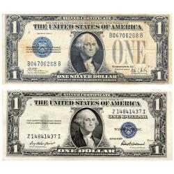 Lot 2 billets 1 Dollar -...
