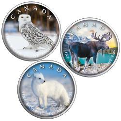 Lot 3 x 5 Dollars Canada BU...