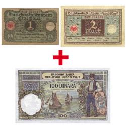 Lot 2 Billets 100 Dinara...