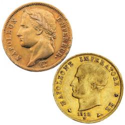 Lot 2 monnaies Or Napoléon