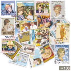 100 Timbres Lady Diana