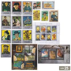 25 Timbres Van Gogh