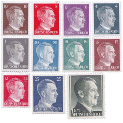11 Timbres IIIe Reich...