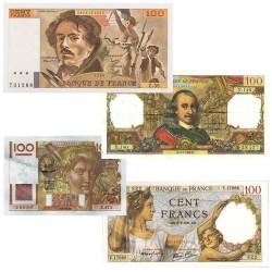 Lot de 4 Billets 100 Francs...