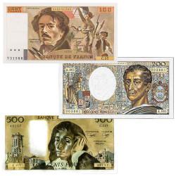 Lot de 3 Billets français