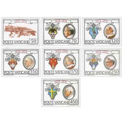 7 Timbres du Vatican 1979