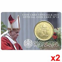 2 Minisets 50 cent Vatican...