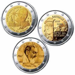 Lot 3 x 2 Euro Vatican...