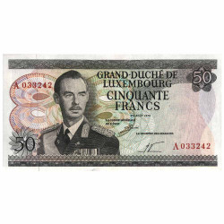 50 Francs Luxembourg 1972