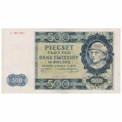 500 Zlotys Pologne 1940