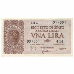 1 Lire Italie 1944