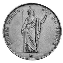 5 Lires Argent 1848 -...
