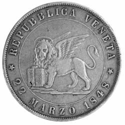 5 Lires Argent 1848 - Lion...