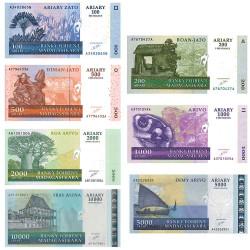7 Billets Madagascar 2003-2006