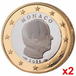Lot 2 x 1 Euro Albert II...