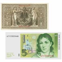 Lot 2 billets Allemagne