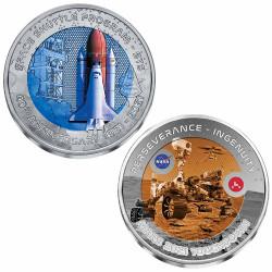 Lot 2 monnaies Titane 2021