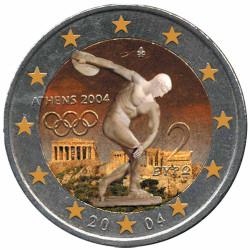 2 Euro Grèce 2004 colorisée...