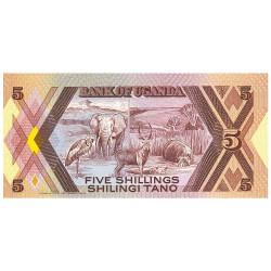 5 Shillings Ouganda 1987 -...