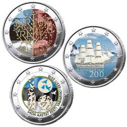 Lot 3 x 2 Euro Estonie...