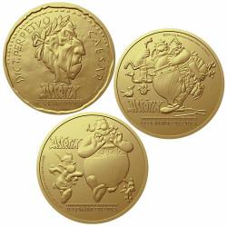 Lot 3 médailles Astérix -...