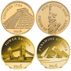 Lot 4 monnaies en Or