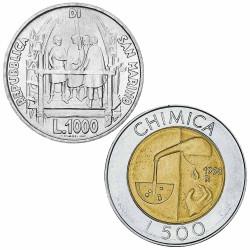 Lot 1000 et 500 Lires...