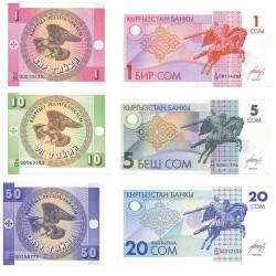 Lot 6 Billets Kirghizistan...