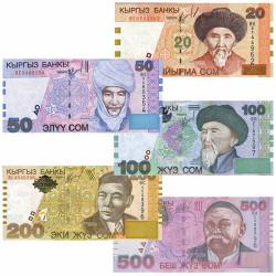 Lot 5 Billets Kirghizistan...