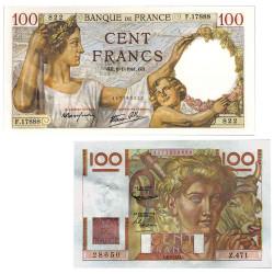 Lot 2 billets 100 Francs...