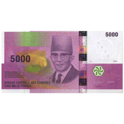 5000 Francs Comores 2006 -...
