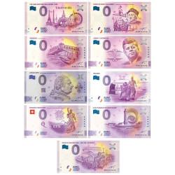 Lot 9 billets 0 Euro