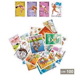 100 timbres Athlétisme été