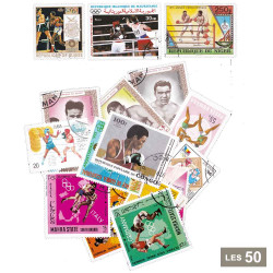 50 timbres Boxe