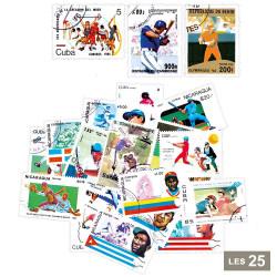 25 timbres Baseball