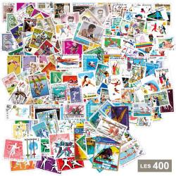 Lot de 400 timbres Sports