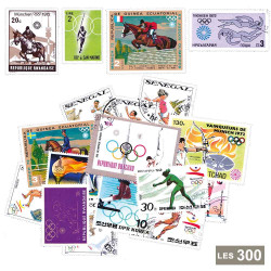 300 timbres Jeux Olympiques...