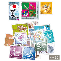 30 timbres Jeux Olympiques...