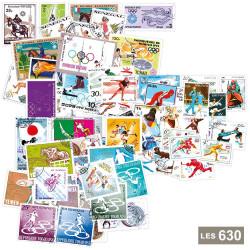 Lot de 630 timbres Jeux...