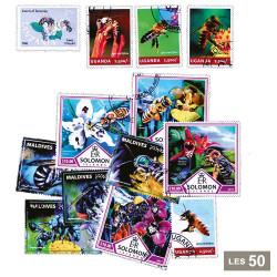 50 timbres Abeilles