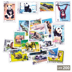 200 timbres Animaux sauvages
