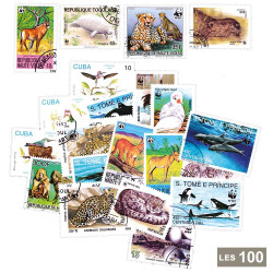 100 timbres Animaux WWF