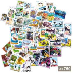 Lot de 750 timbres Animaux