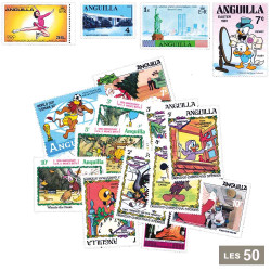 50 timbres neufs Anguilla