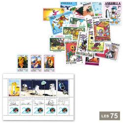 Lot de 75 timbres neufs...